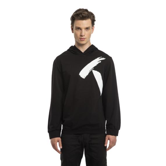 T nyomott mintás pulóver